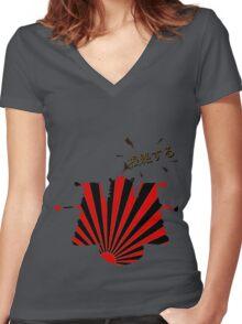 根絶する (Exterminate!) Women's Fitted V-Neck T-Shirt