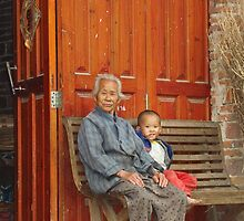 Grandmother and Little Boy by Jennifer Lam