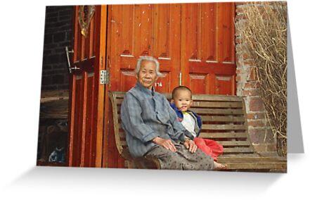 Grandmother and Little Boy by Jennifer Lam