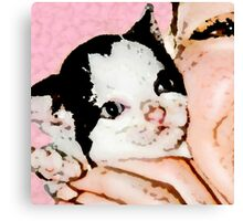 Kitten Love Canvas Print