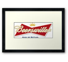 Beerswiller Funny Parody Logo Framed Print