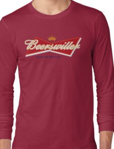 Beerswiller Funny Parody Logo Long Sleeve T-Shirt
