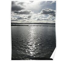 Sunshine cloud over water Poster