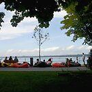 Beanbags by the lake by Ellanita