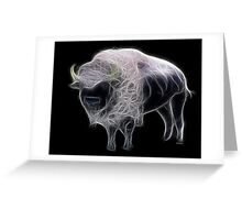 Medicine Wheel Totem Animals by Liane Pinel- White Buffalo Greeting Card