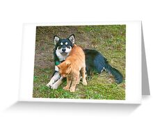 Rosie and Toby  Greeting Card