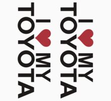 I Love My Toyota Decals (2) by avdesigns