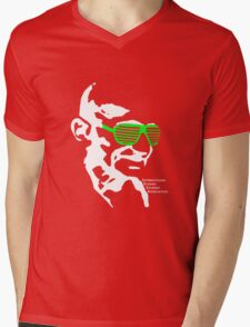 ISSA 2011 Gandhi Shades (Black) Mens V-Neck T-Shirt