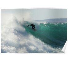 Surfing Jakes Point, Kalbarri, Western Australia Poster