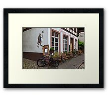 Old Bicycles  Framed Print