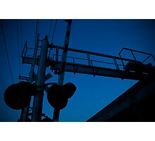 Blue Crossing Photographic Print