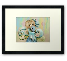 the whale whisperer Framed Print