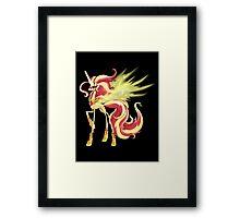 My Little Pony - MLP - Sunset Shimmer Alicorn Framed Print