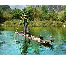 Rural Fisherman Photographic Print