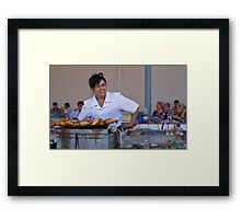 Lunch Lady Framed Print