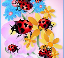 Lucky-Love Ladybugs by Lotacats