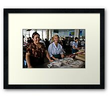 Butcher Ladies Framed Print