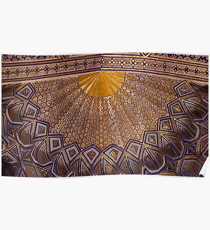 Ceiling, Amur Timur Mausoleum Poster