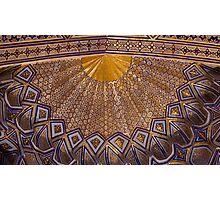 Ceiling, Amur Timur Mausoleum Photographic Print