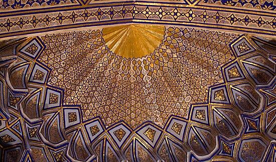 Ceiling, Amur Timur Mausoleum by Gillian Anderson LAPS, AFIAP