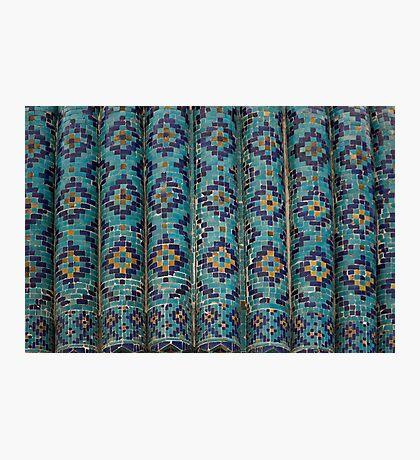 Tiles, Amur Timur Mausoleum Photographic Print
