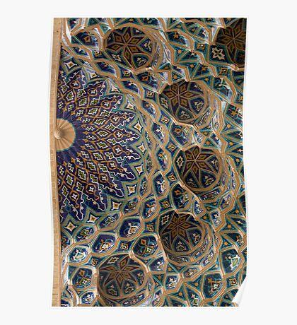 Roof detail, Amur Timur Mausoleum Poster