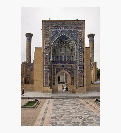 Front gate, Amur Timur Mausoleum Photographic Print
