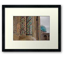 Registan columns Framed Print