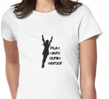 Play Hard, Derby Harder ~ Black Womens Fitted T-Shirt
