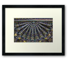 Blue & Yellow Tiles Framed Print