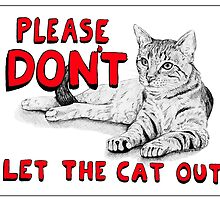 Cat Sign - Red by Meaghan Roberts