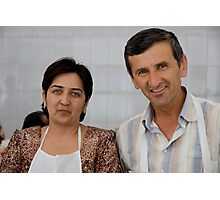 Market Couple Photographic Print