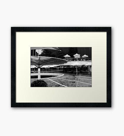 Sidewalk Architecture Framed Print