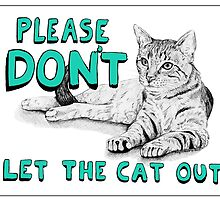 Cat Sign - Teal by Meaghan Roberts