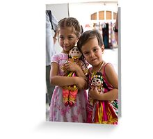 Girls and dolls Greeting Card