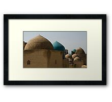 Domes at Shah-i-Zinda Framed Print