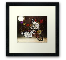 Skeleton on a Bike Framed Print