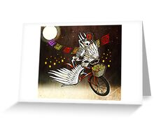 Skeleton on a Bike Greeting Card
