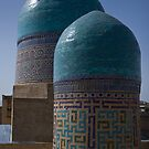 Double domes, Shah-i-Zinda by Gillian Anderson LAPS, AFIAP