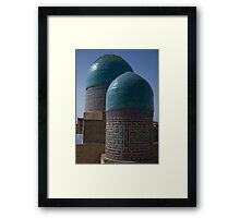 Double domes, Shah-i-Zinda Framed Print