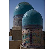 Double domes, Shah-i-Zinda Photographic Print