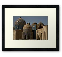 Domes of Shah-i-Zinda  Framed Print