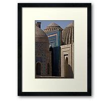 Looking down the street, Shah-i-Zinda Framed Print