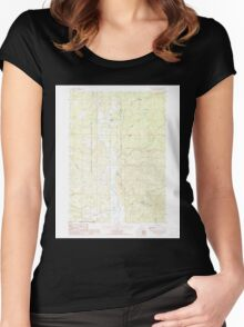 USGS Topo Map Oregon The Bull Pasture 281774 1988 24000 Women's Fitted Scoop T-Shirt