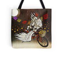 Skeleton on a Bike Tote Bag