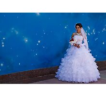 Bride posing Photographic Print