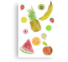 Fruit Fight! Canvas Print
