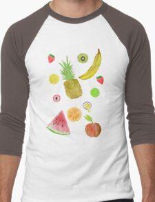 Fruit Fight! Men's Baseball ¾ T-Shirt