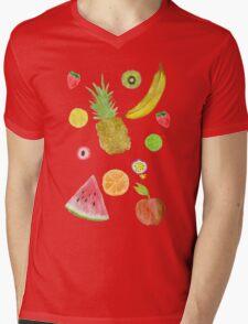 Fruit Fight! Mens V-Neck T-Shirt