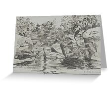 The Old Swimming Hole Greeting Card